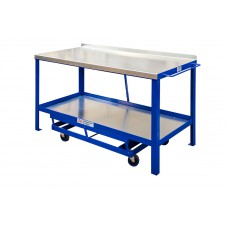 Mobile Workbench With Galvanised Steel Top